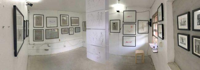Ausstellungsraum Zeichnungen - Thomas Nesbeda, 2017