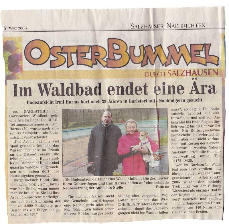 Zeitungsausschnitt  12.08.2008 - Nachfolgerin gesucht